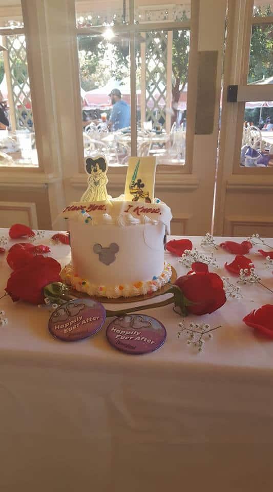 Disneyland Date Night cake photo credit Rachel Broughten.