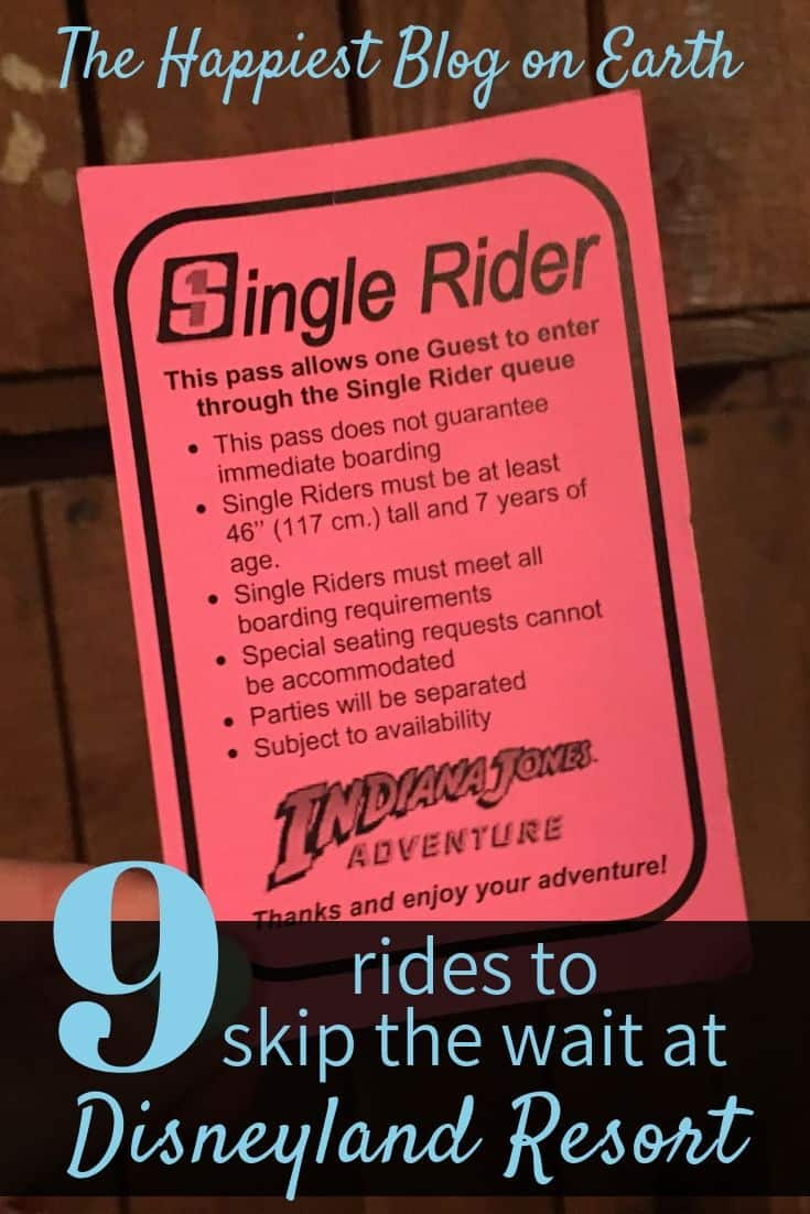 Disneyland Single Rider line