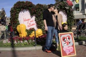Disneyland Valentine's Day photo spot