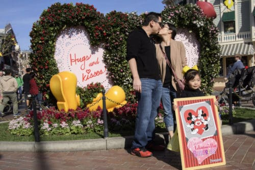 Disneyland Valentine's Day photo spot