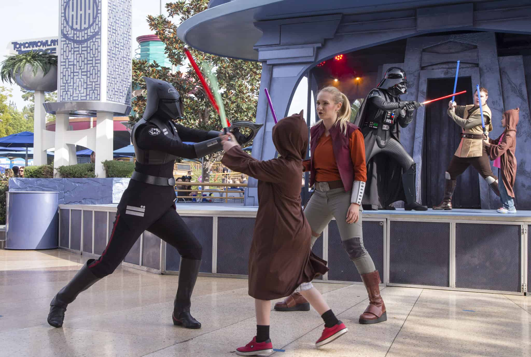 "The reimagined battle experience ""Jedi Training: Trials of the Temple"". (Paul Hiffmeyer/Disneyland Resort)"