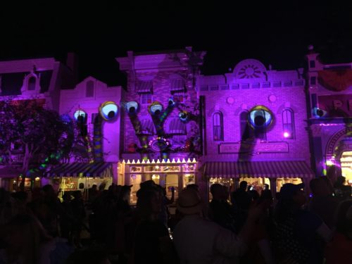 Halloween projections Disneyland