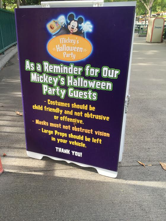 Mickey's Halloween Party at Disneyland park.
