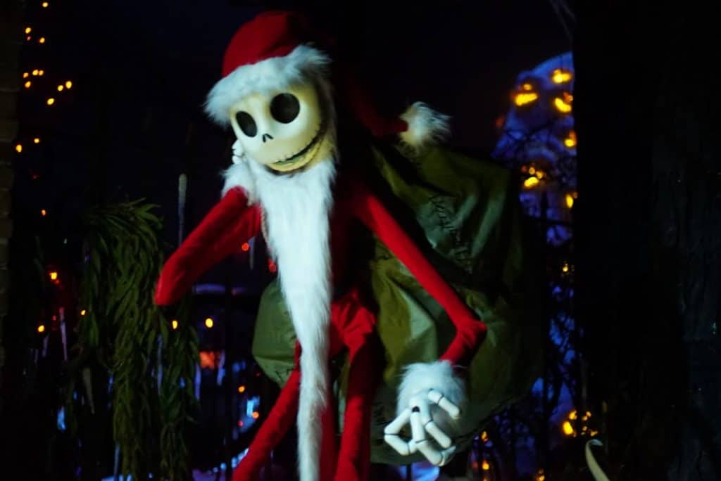 Jack Skellington is back in the Haunted Mansion Holiday.