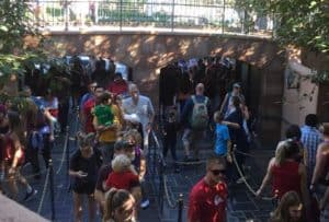 Long lines Disneyland