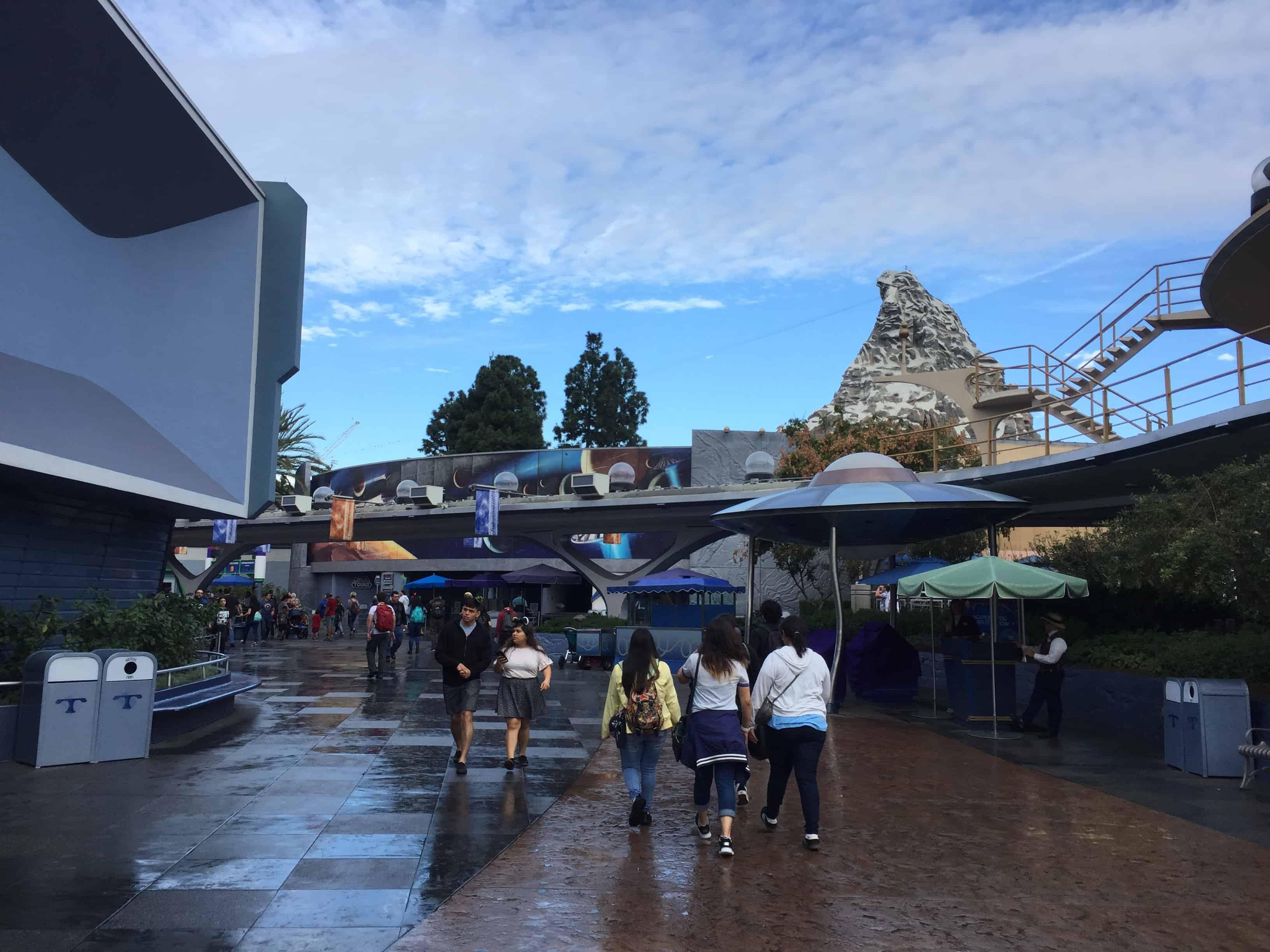 Disneyland after rain