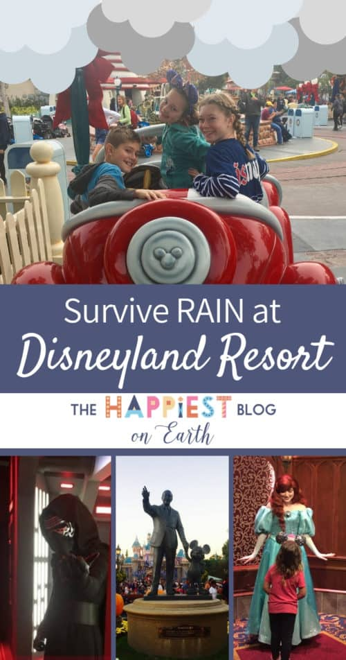How to survive rain at Disneyland