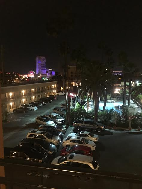 Night view from Grand Legacy At The Park. A top Disneyland area hotel.