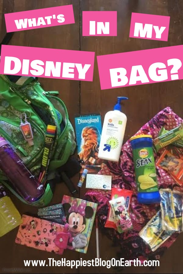 What's in my Disneyland bag?