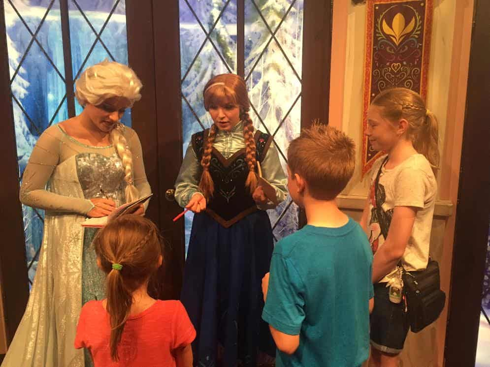 Meet Anna & Elsa at Disneyland Resort's California Adventure.