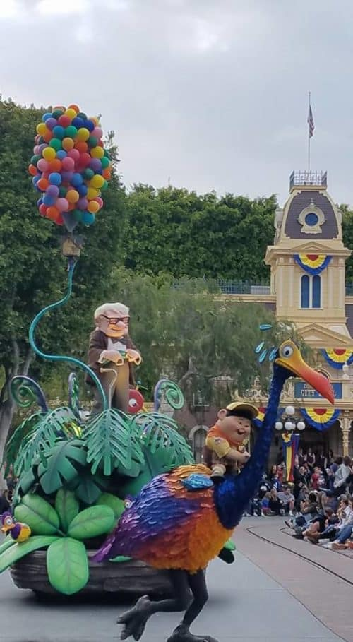 UP float Pixar Play Disneyland