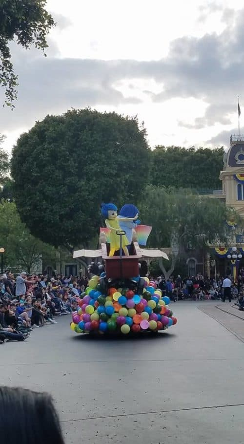 Inside Out float Pixar Play Parade