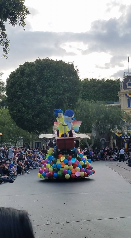 New Inside Out float Pixar Play Parade Disneyland Park