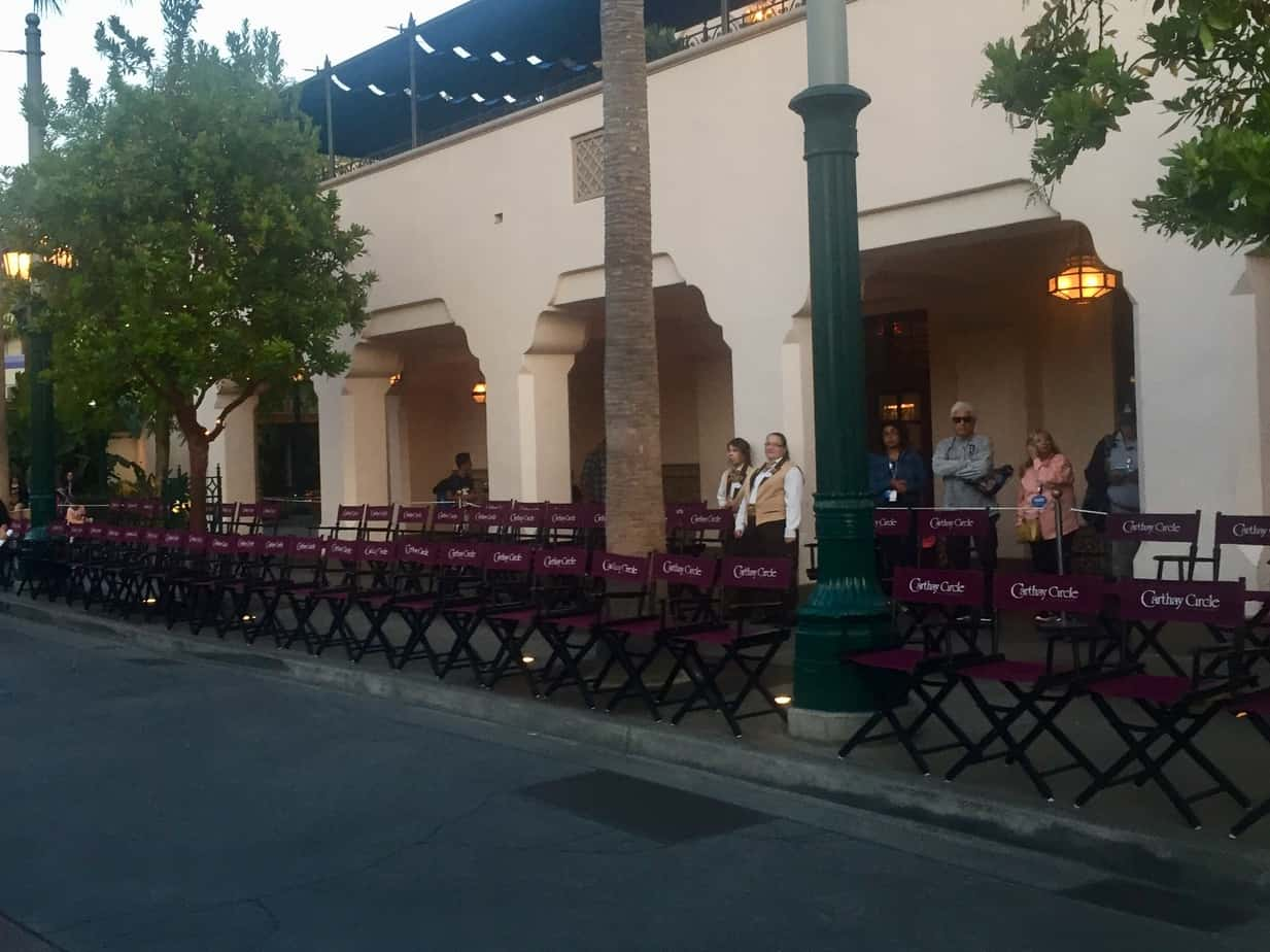 Carthay Circle parade seating