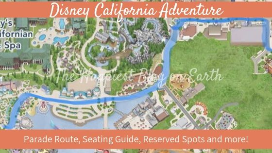 Disney California Adventure parade route