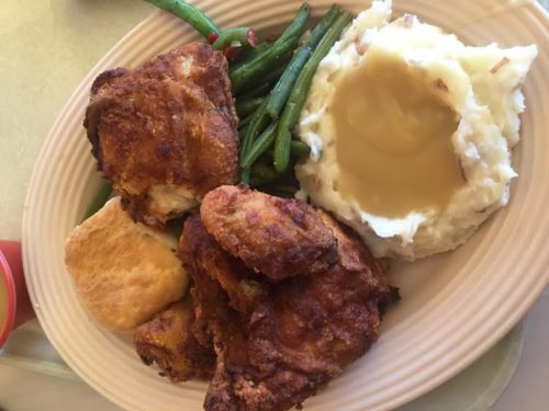 Fried Chicken at Plaza Inn.