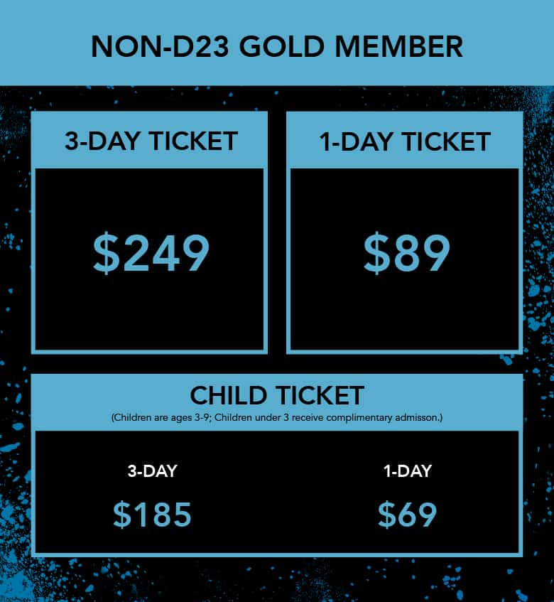 D23 Expo 2019 general admission ticket prices