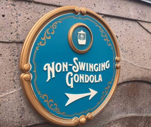 Non swinging gondola