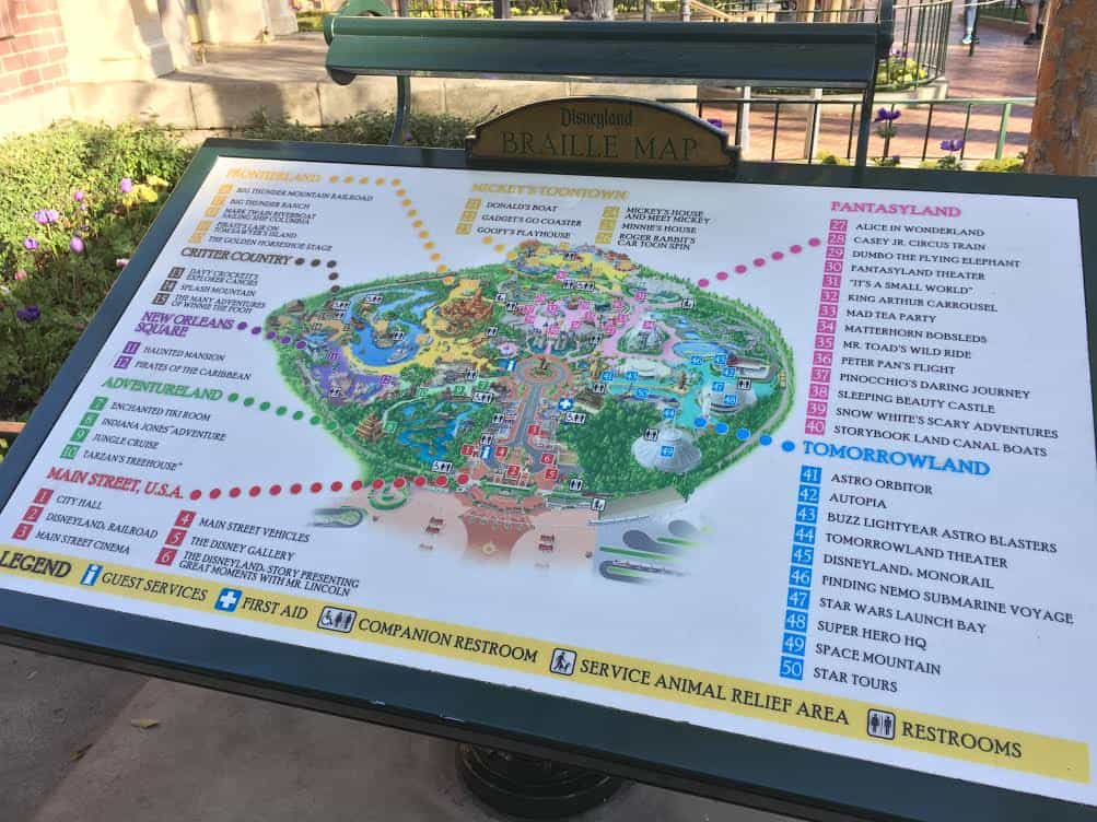 Disneyland Braille Map