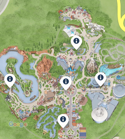 Guest Relations Kiosk Disneyland Park