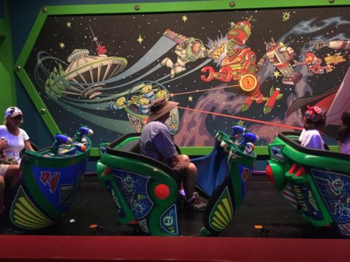 Buzz Lightyear Astro Blasters seats