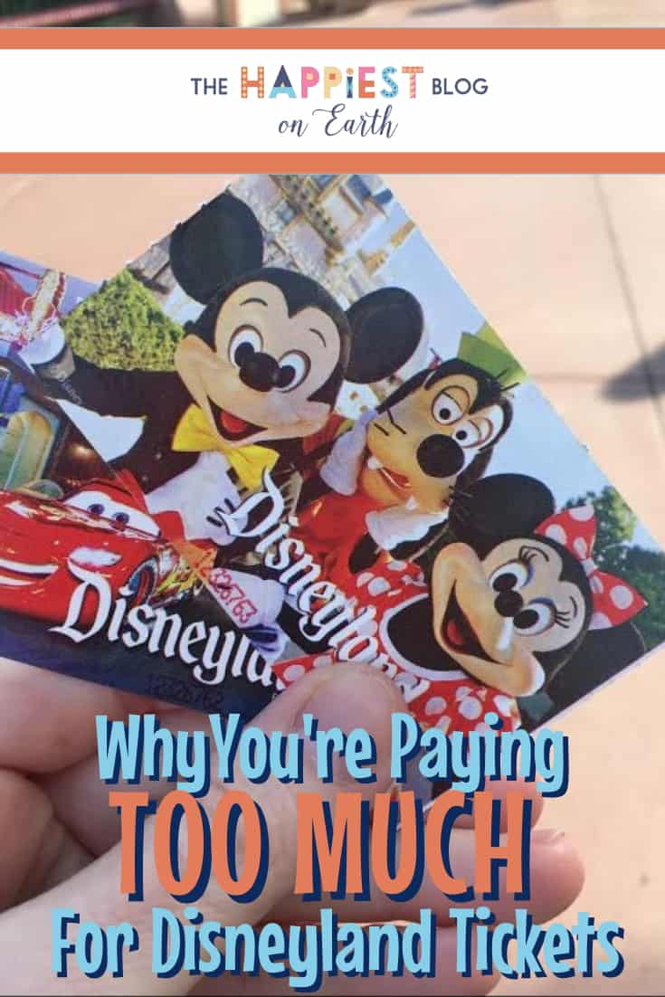 Why you're paying too much for Disneyland tickets.