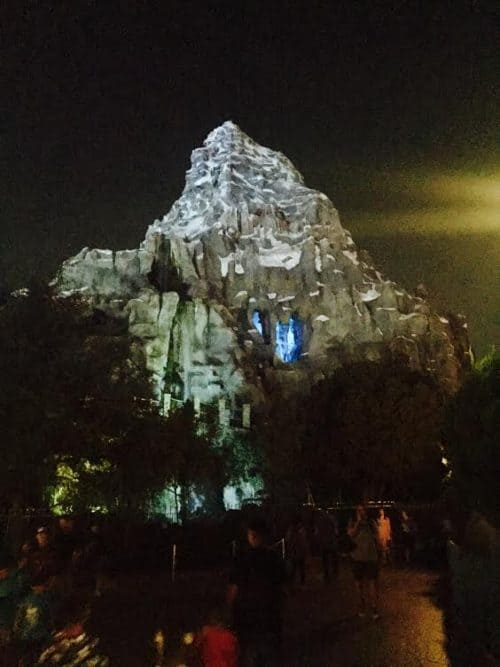 Matterhorn Bobsleds at night