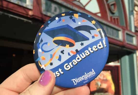 Just Graduated button Disneyland