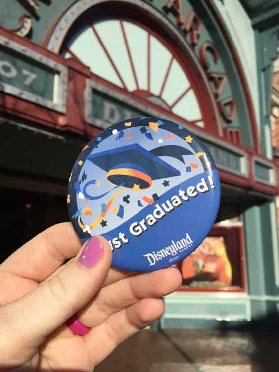 Just Graduated button Disneyland
