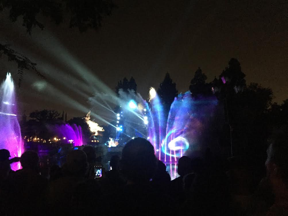 Disneyland Fantasmic view