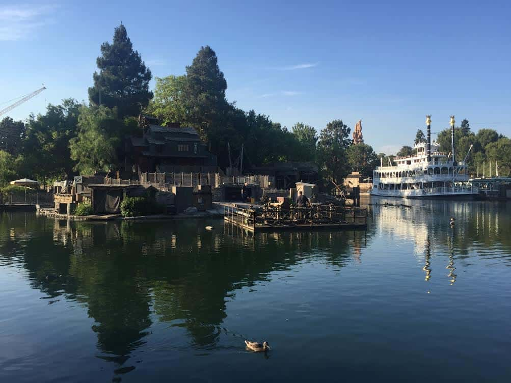 Fantasmic reserved space along Rivers of America