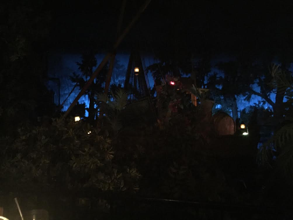 Pirates of the Caribbean view from Blue Bayou