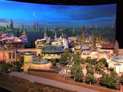Galaxy's Edge Disneyland model