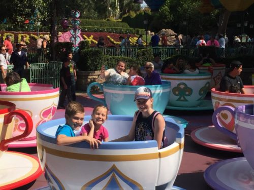 Kids riding teacups!