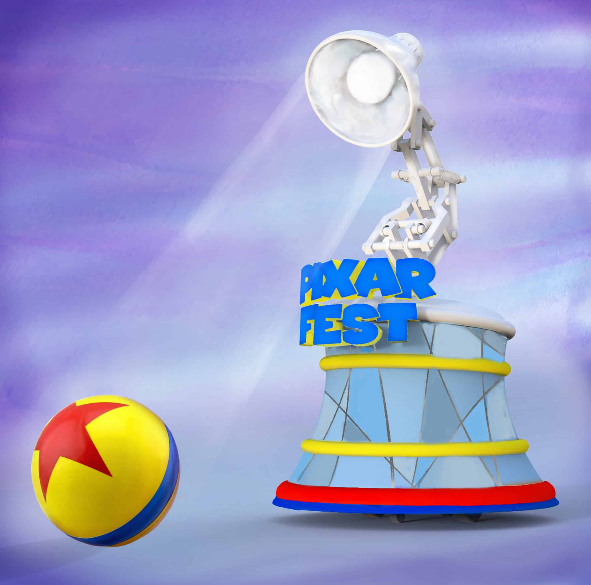 Pixar Fest float, courtesy Disneyland Resort