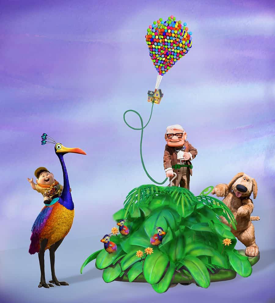 Pixar Fest UP float, courtesy Disneyland Resort