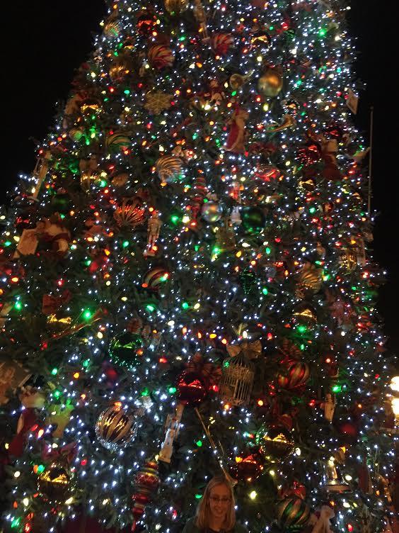 Disneyland Christmas tree up close