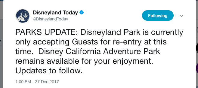 What to do if Disneyland reaches capacity