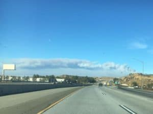 Smoke and fire in Southern California.