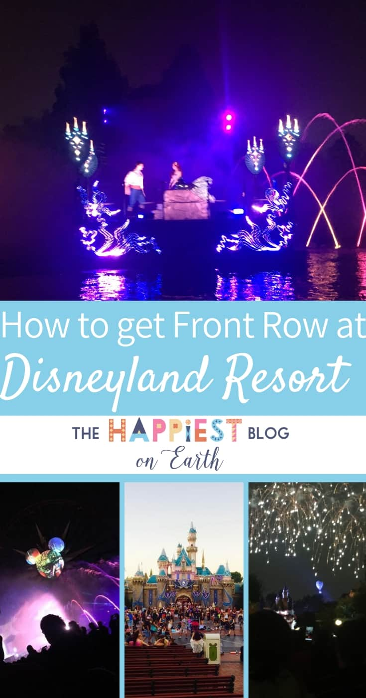 How to get front row seats at Disneyland