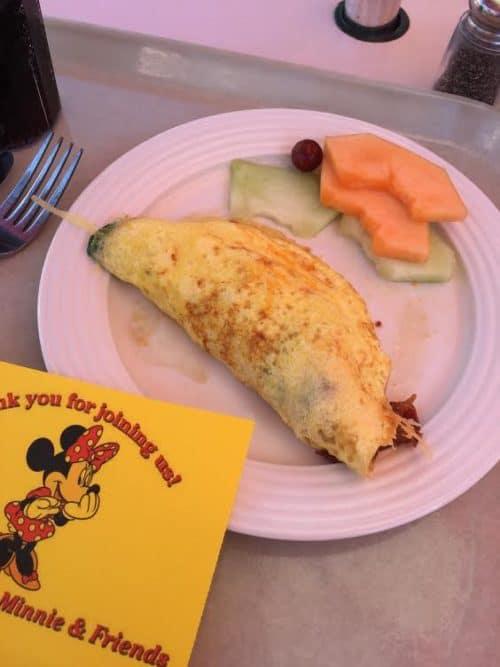 Disneyland Breakfast veggie omelet