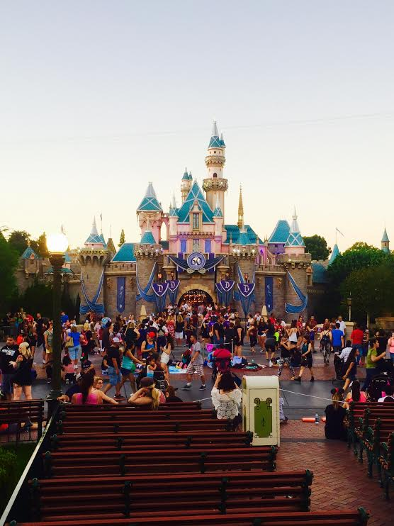 Disneyland fireworks seating