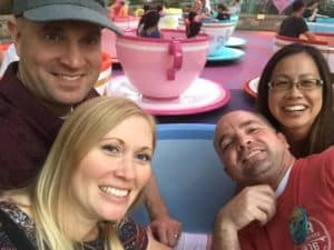 Mad Tea Party, 4 adults in a teacup