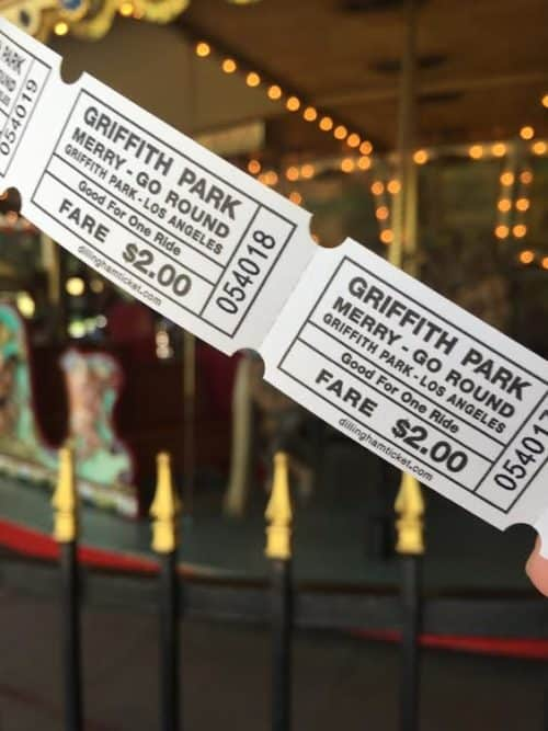 Griffith Park Merry Go Round ticket