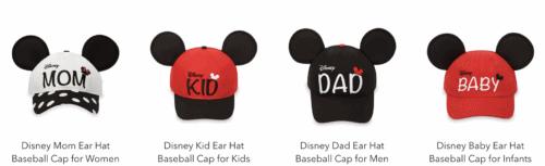 Disney family hats