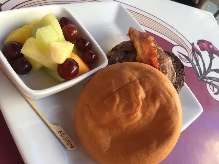 Carnation Cafe Gluten-free bacon burger