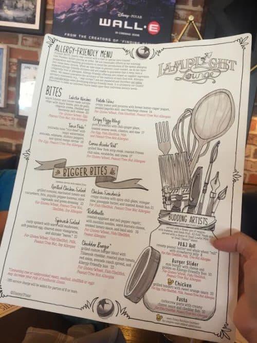 California Adventure gluten free menu