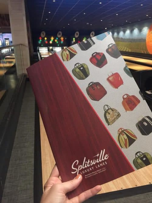 Splitsville menu