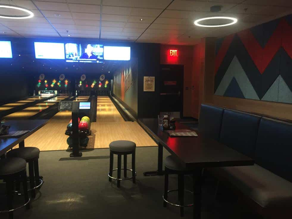Downtown Disney Bowling seating