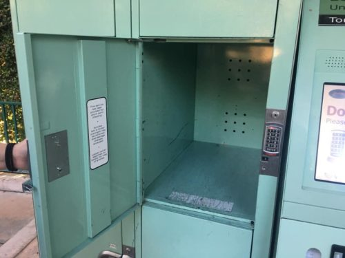 Jumbo Disneyland locker fits carry on luggage